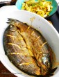 Tamari-baked Trout with Crispy Bacon & Fennel.
